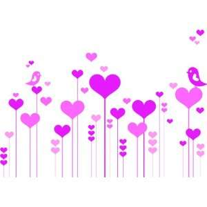 Vinyl Wall Decals   Hearts and Birds