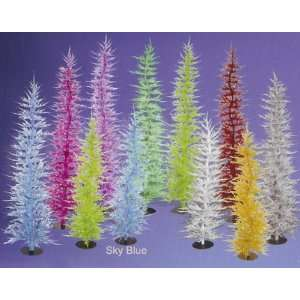 Whimsical Sky Blue Laser Tinsel Christmas Tree 30