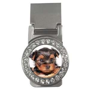 Yorkshire Terrier Puppy Dog 8 Money Clip CZ W0655