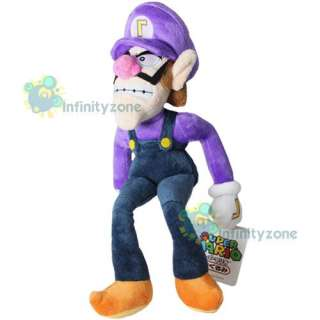 Nintendo Super Mario Bros 12 Waluigi Figure Plush Doll