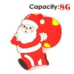 8GB Running Santa Claus USB Flash Drives Disk (Red) Electronics