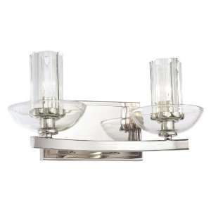 Polished Nickel Wall Sconce with Eidolon Krystal Glass Shade 6692 613