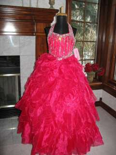 Perfect Angels 1424 Raspberry Girls Pageant Gown Dress 4