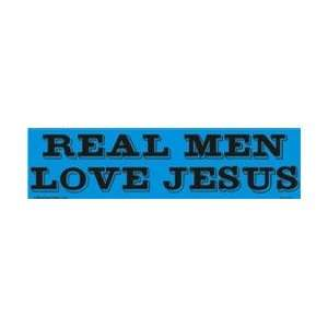 Real men love Jesus bumper sticker Automotive