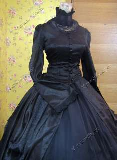 Victorian Gothic Lolita Brocade Dress Ball Gown 156 M