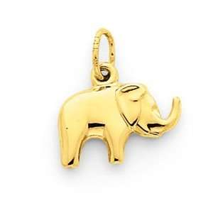 14k Elephant Charm   Measures 14.7x12.9mm   JewelryWeb Jewelry