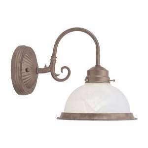 Livex 8107 18 Home Basics Wall Sconce Weathered Brick