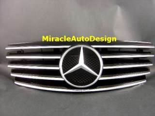 FRONT GRILLE (BLACK) FOR 2000 2002 MERCEDES BENZ W210 E CLASS
