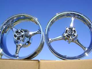 SUZUKI GSXR GSX R 600 750 CHROME WHEELS & SWINGARM