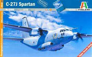 ITALERI 1/72 C 27J SPARTAN TRANSPORT PRM PLANE MODEL