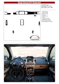 Wood Grain Decal Dash Kit Trim Regal 97 04
