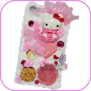 3D Hello Kitty Lovely Cake Hard Case iPhone 4 4G#01