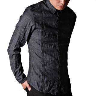 US New Mens Design Relaxed Slim Fit Casual Shirt Luxury Stylish Dress