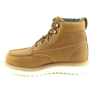 WOLVERINE Work Wedge Mens SZ 12 Brown Honey Boots Work Shoes