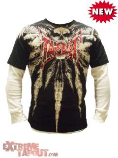 New Kids Tapout Skull Of Death UFC MMA Cage Fighter Long Sleeve Tee