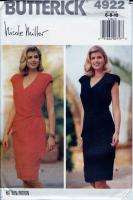 90s Pattern Nicole Miller Mock Wrap Dress Sz 6 8 10