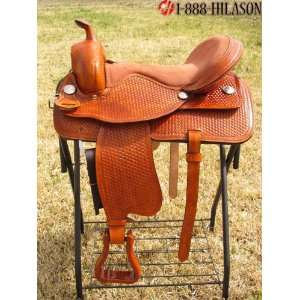 Hilason Treeless Western Trail Barrel Racing Saddle