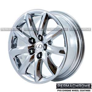 OEM LEXUS LS460 18 PVD CHROME WHEELS 74195 EXCHANGE