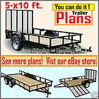 Plans 5 x 10 Utility, Cargo, ATV, Motorcycle Trailer