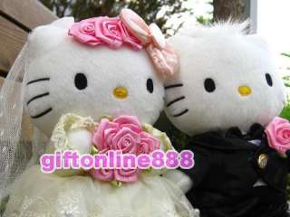 2PC Hello Kitty Bride & Groom wedding dresses doll