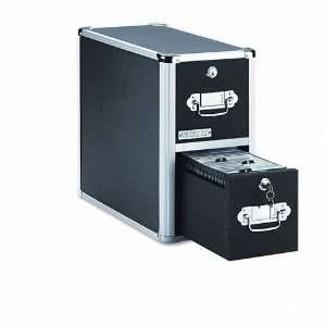 High capacity CD storage.   Key lock drawers.   Accommodates Vaultz CD