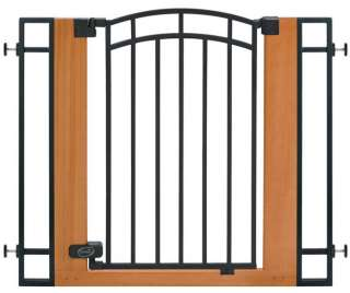NEW Summer Infant Extra Tall Wood Metal Walk Thru Gate