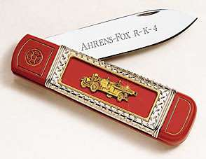 FRANKLIN MINT ~ The Firefighters Knife ~ Ahrens Fox
