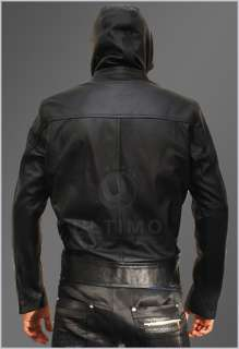 Impossible 4 Ghost Protocol Cruise Mens Hooded Bomber Leather Jacket