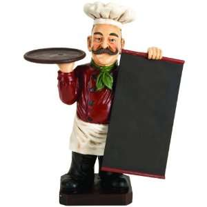Deluxe Italian Chef With Chalk Board Blackboard Menu Sign