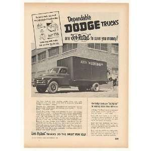 Co Dodge Job Rated Truck Trade Print Ad (42157)