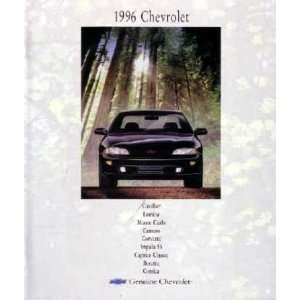 1996 CHEVROLET Sales Brochure Literature Book Piece
