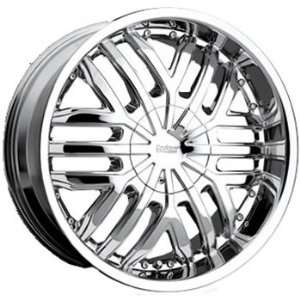 Cruiser Alloy Swagger 24x9.5 Chrome Wheel / Rim 5x115 & 5x5.5 with a