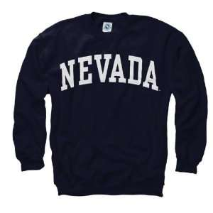 Nevada Wolf Pack Navy Arch Crewneck Sweatshirt Sports