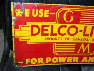 Old AC Delco General Motors GMC GM Tin Auto Dealer Garage Station Sign