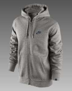 Nike NSW AW77 Full Zip Hoody Grey Fleece 382080 063