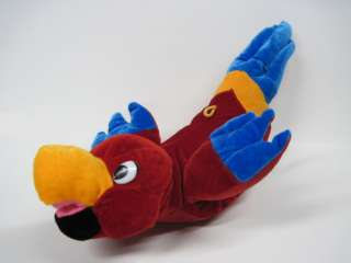 Red Blue Toucan Macaw Bird Stuffed Animal Plush SA12