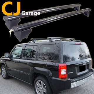10 Black Top Roof Pair Rack Rail Sport Utility Cross Bar + Key