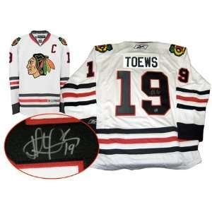 Jonathan Toews Autographed/Hand Signed Jersey Chicago Blackhawks White