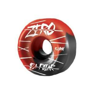 Zero Bi Polar (Set of 4) Skateboard Wheels   51mm   Red