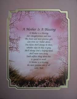 MOTHER IS A BLESSING PERSONALIZED POEM GIFT FOR MOM