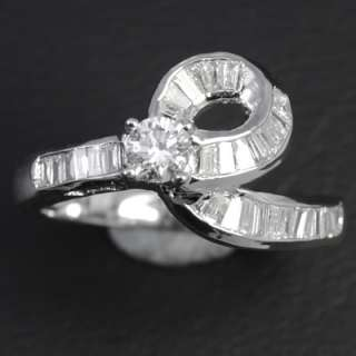 14k Pure White Gold Natural Top Diamond Ladies Vintage Cocktail