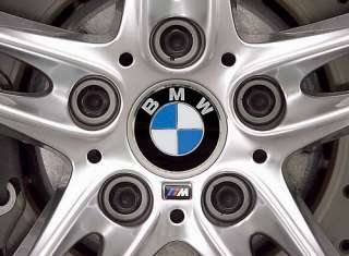 x4 GENUINE BMW Wheel Centre Caps 1 series E81 E82 E87