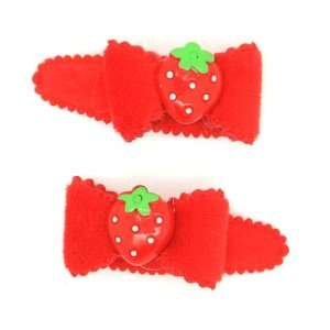 (Red) Baby/ Toddler /Girl Bow Shaped with Tiny Strawberry