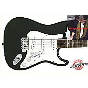 Stones Mick Taylor Autographed Signed Guitar & Proof Toys & Games