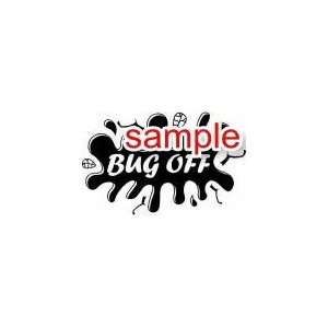 RANDOM BUG OFF 10 WHITE VINYL DECAL STICKER Everything