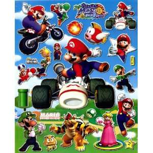 Super MARIO Bros STICKER SHEET BL704~ Race Car Motorbike Cart Turtle