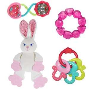 Bright Starts Pretty in Pink Bundle of Fun Toy Collection Baby