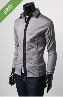New Fashion Leisure Simple and Stylish Mens Long sleeved Slim Shirt