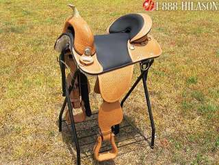 Hilason Treeless Western Barrel Trail Saddle 16 CAW102