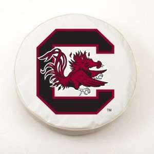 South Carolina Gamecocks White Tire Cover, Large Sports